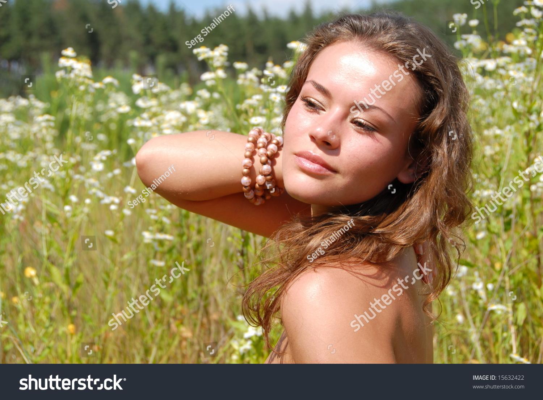 Portrait beautiful girl flowers stock photo edit now 15632422 portrait of the beautiful girl with flowers izmirmasajfo