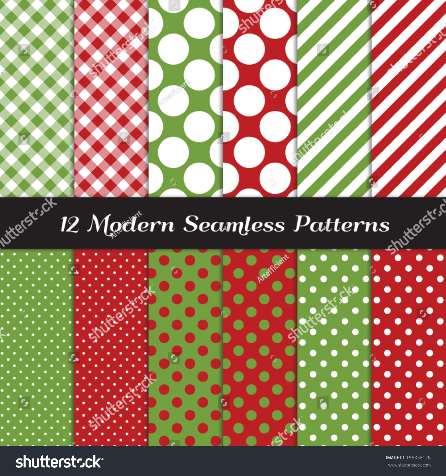 Pics photos merry christmas argyle twitter backgrounds - Classic Christmas Backgrounds Red And Green Jumbo Polka Dot Gingham And Stripes Seamless Patterns