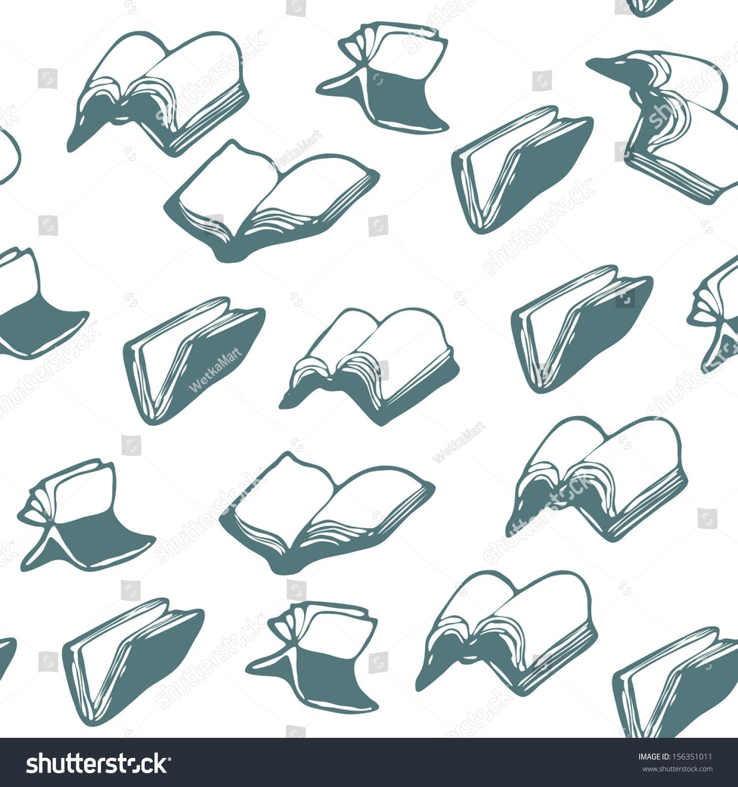 Flying Books Patterns Stock Vector 156351011 - Shutterstock