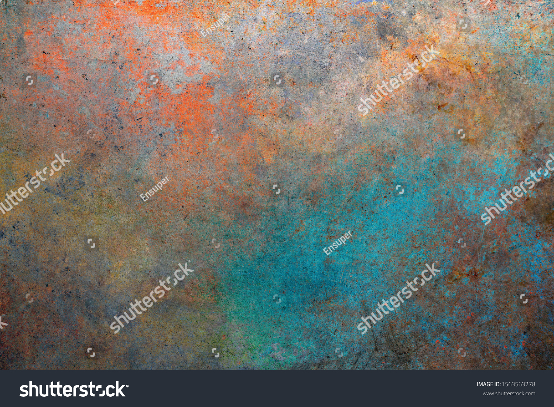 Rusty metal background. Color steel texture #1563563278