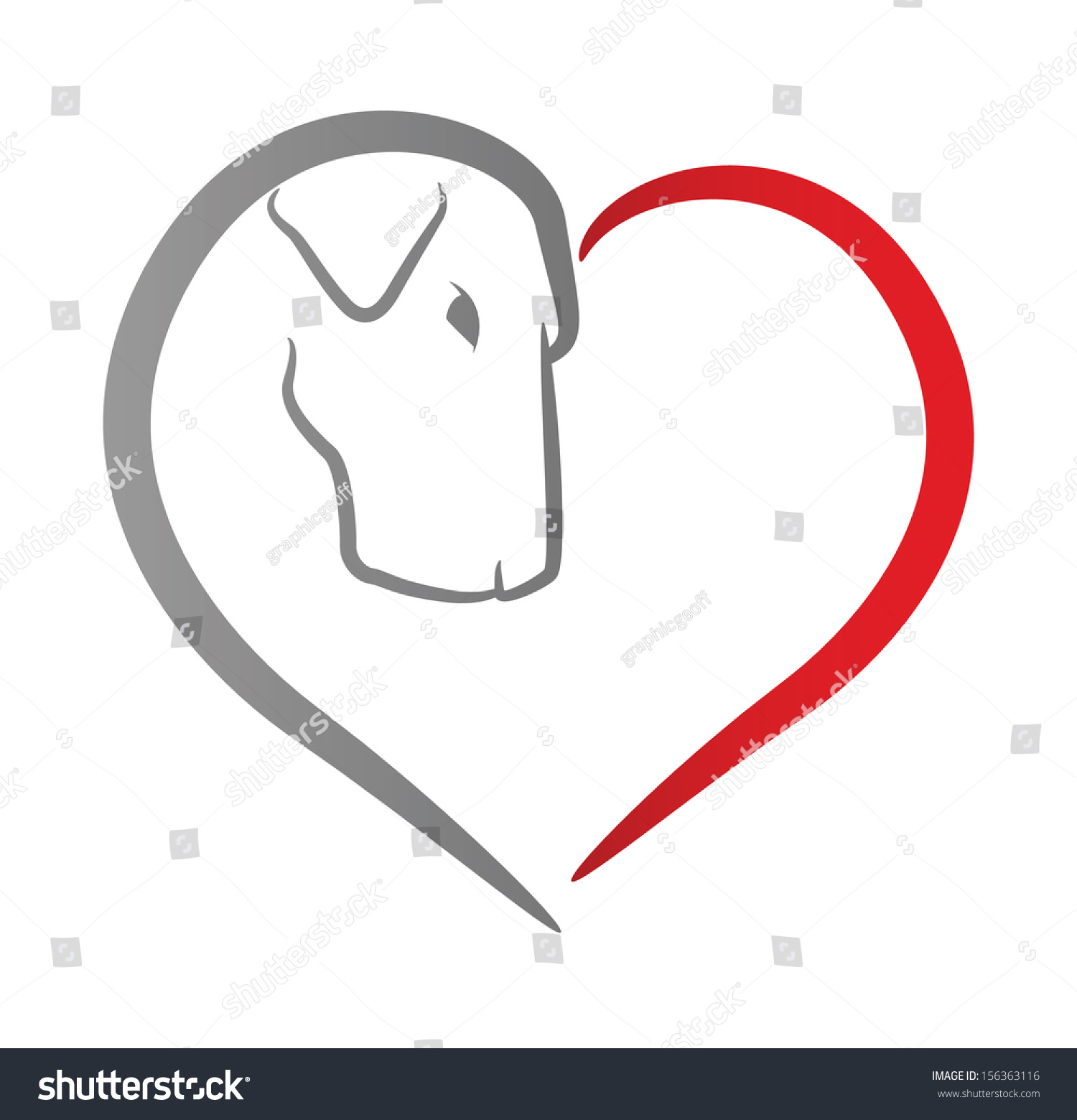 Icon dogs head within red heart stock illustration 156363116 icon of a dogs head within a red heart biocorpaavc Images