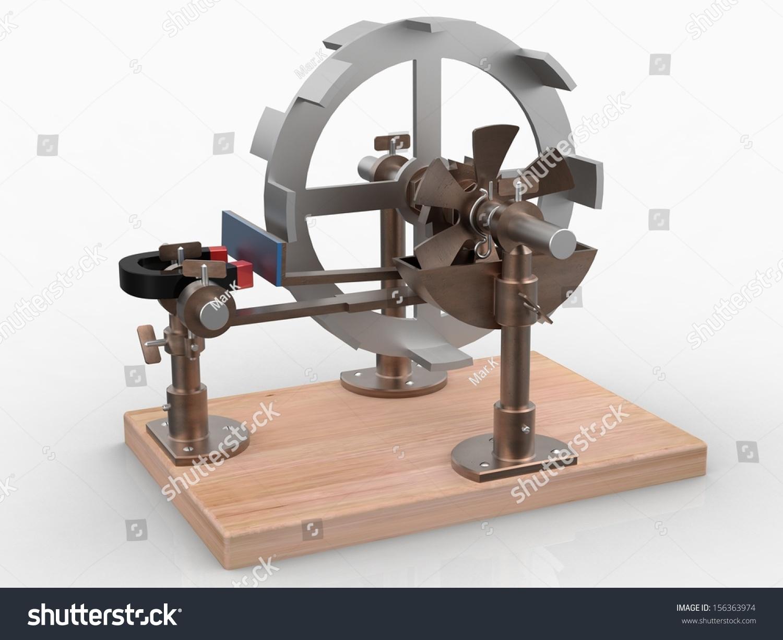 Perpetuum Mobile Magnetic Wheel Stock Illustration ...