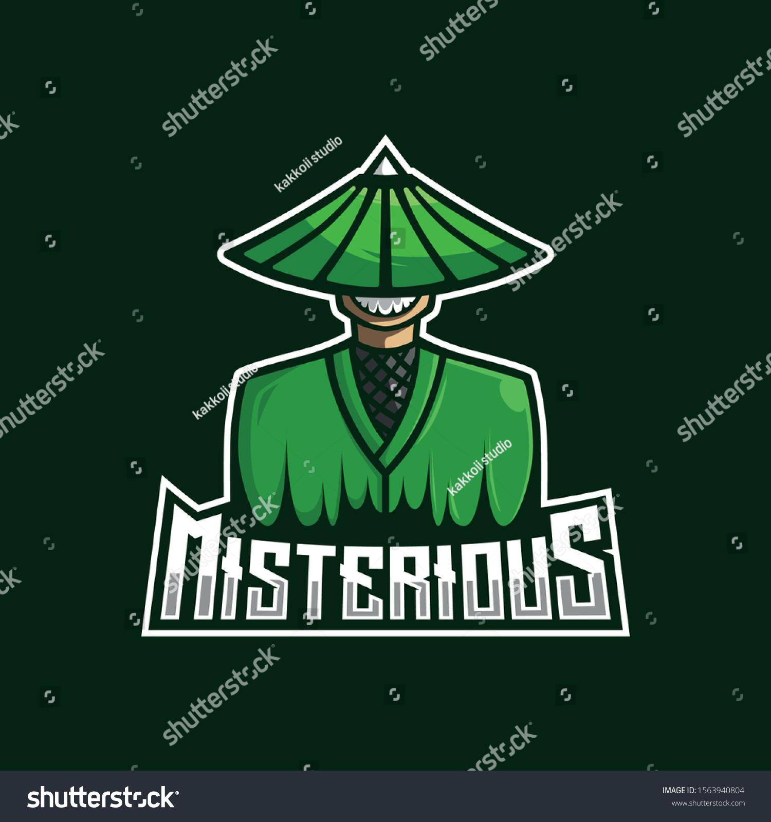 Misterius Man Mascot Logo Design Template Stock Vector Royalty Free 1563940804