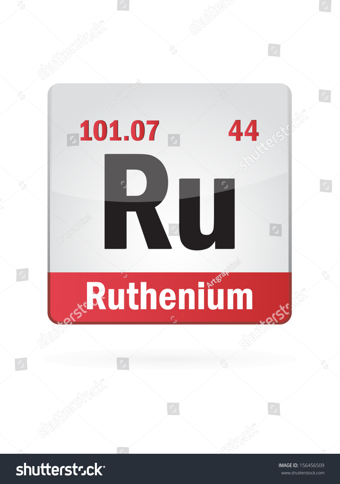 Ruthenium Symbol Illustration Icon On White Stock Vector 156456509