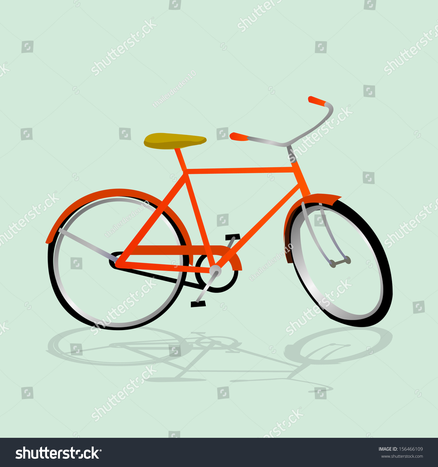 Simple bicycle illustration - photo#36