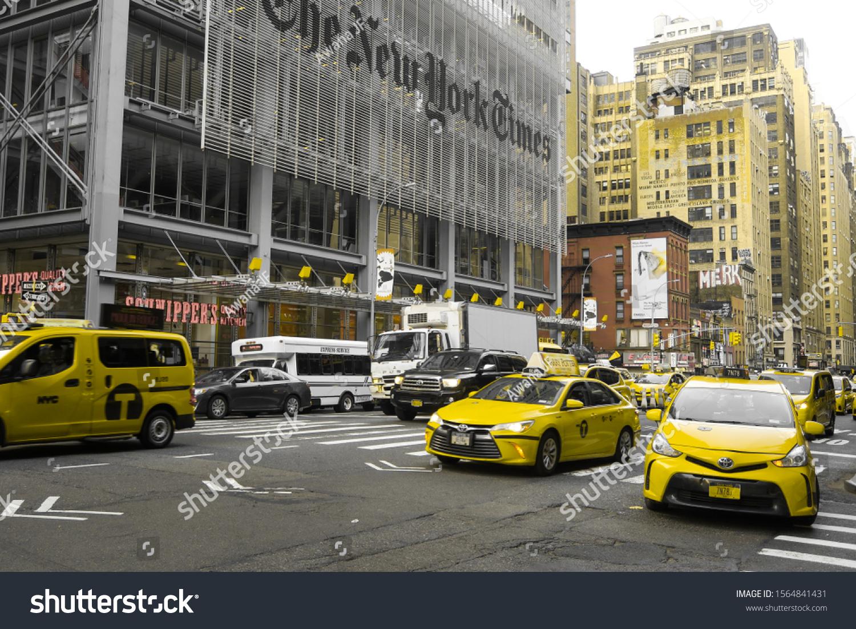 stock-photo-new-york-usa-july-yellow-cab