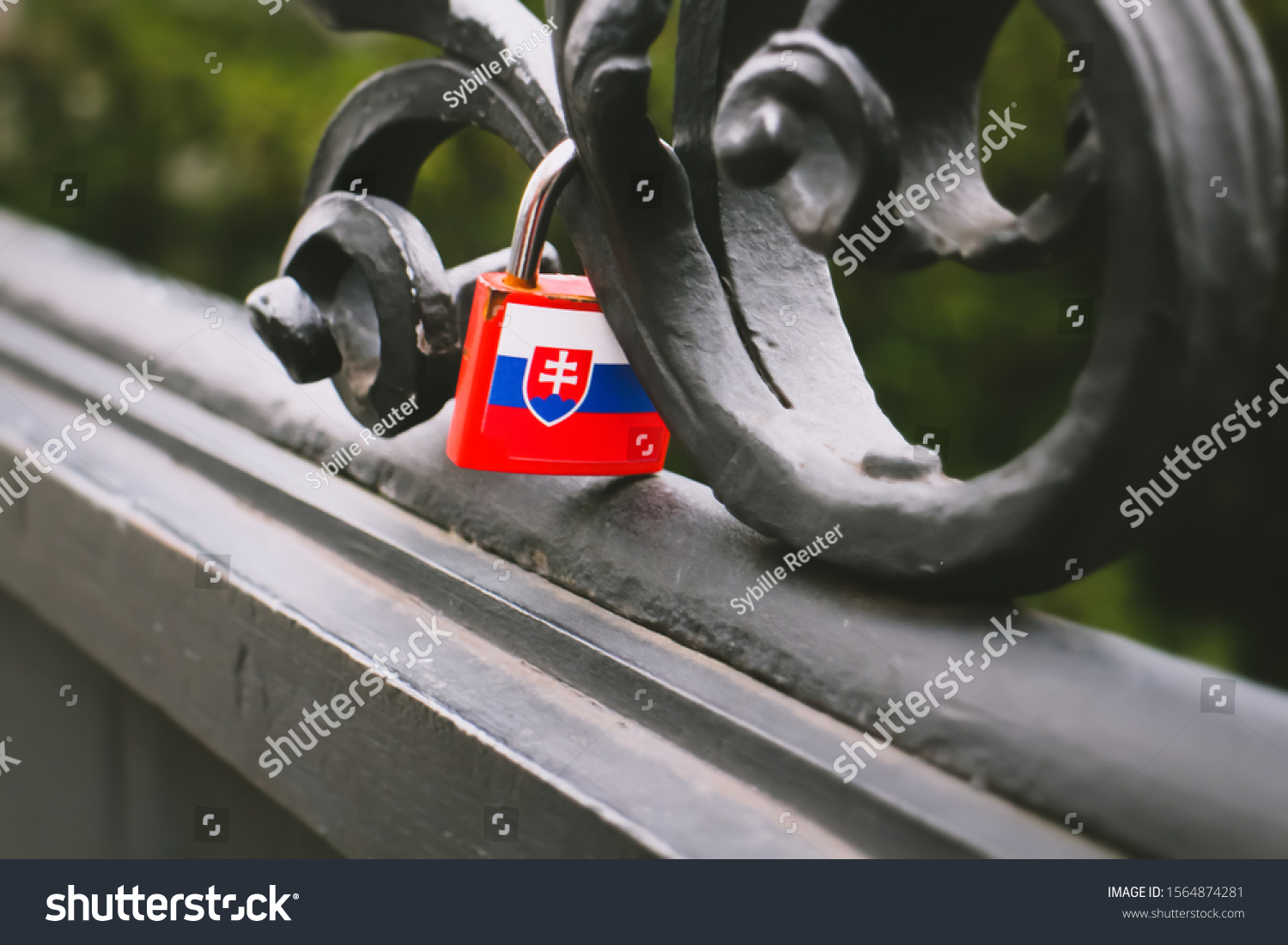 stock-photo-a-slovak-flag-padlock-is-att