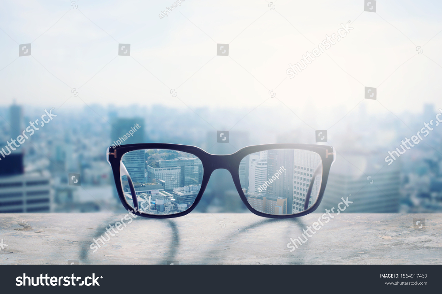 Glasses that correct eyesight from blurred to sharp #1564917460