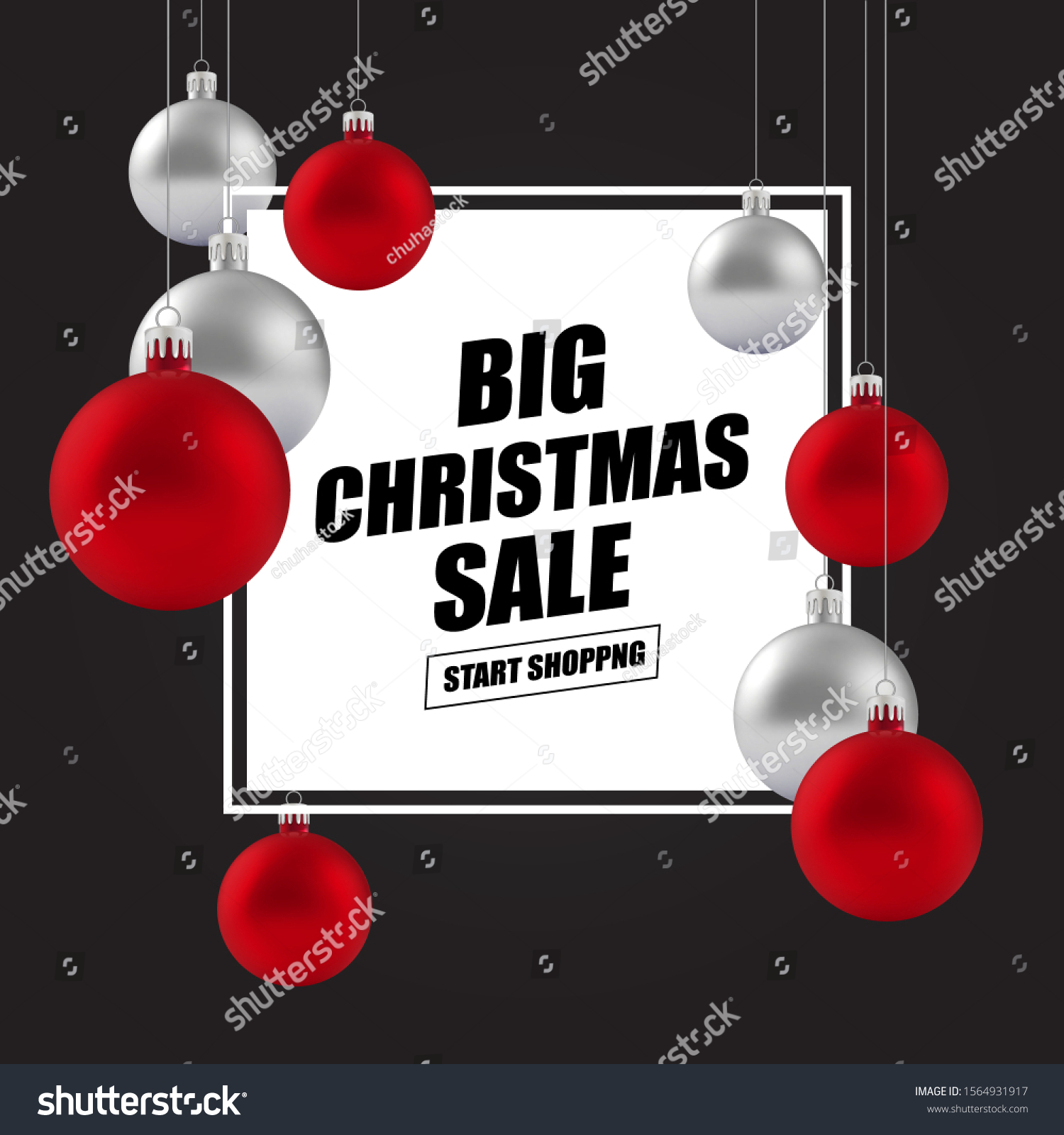 Christmas New Year Holiday Sale Ad Stock Vector Royalty Free 1564931917