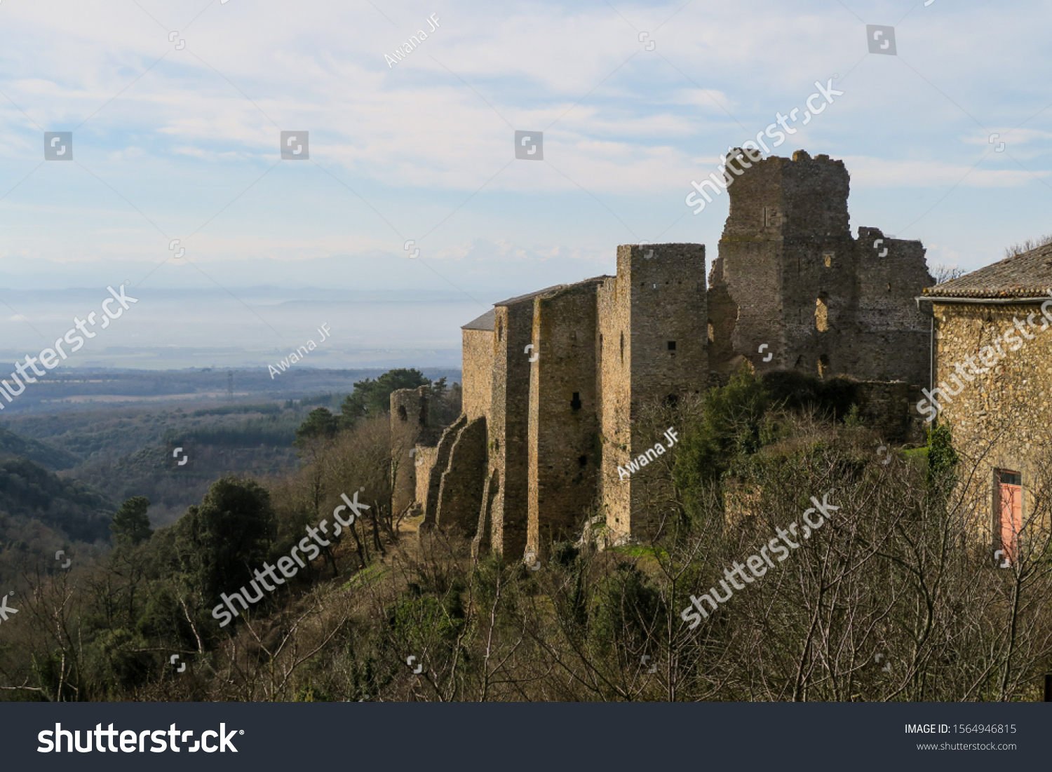 stock-photo-ruins-of-the-cathar-castle-o