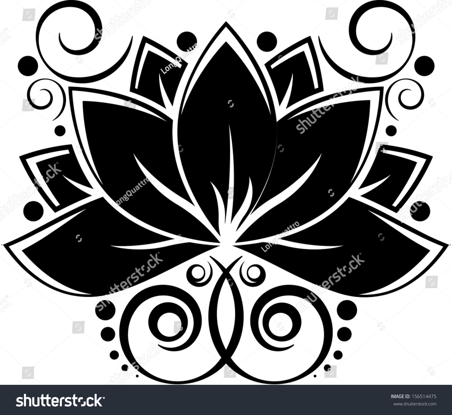Black silhouette lotus flower eps 10 stock vector royalty free black silhouette of lotus flower eps10 izmirmasajfo