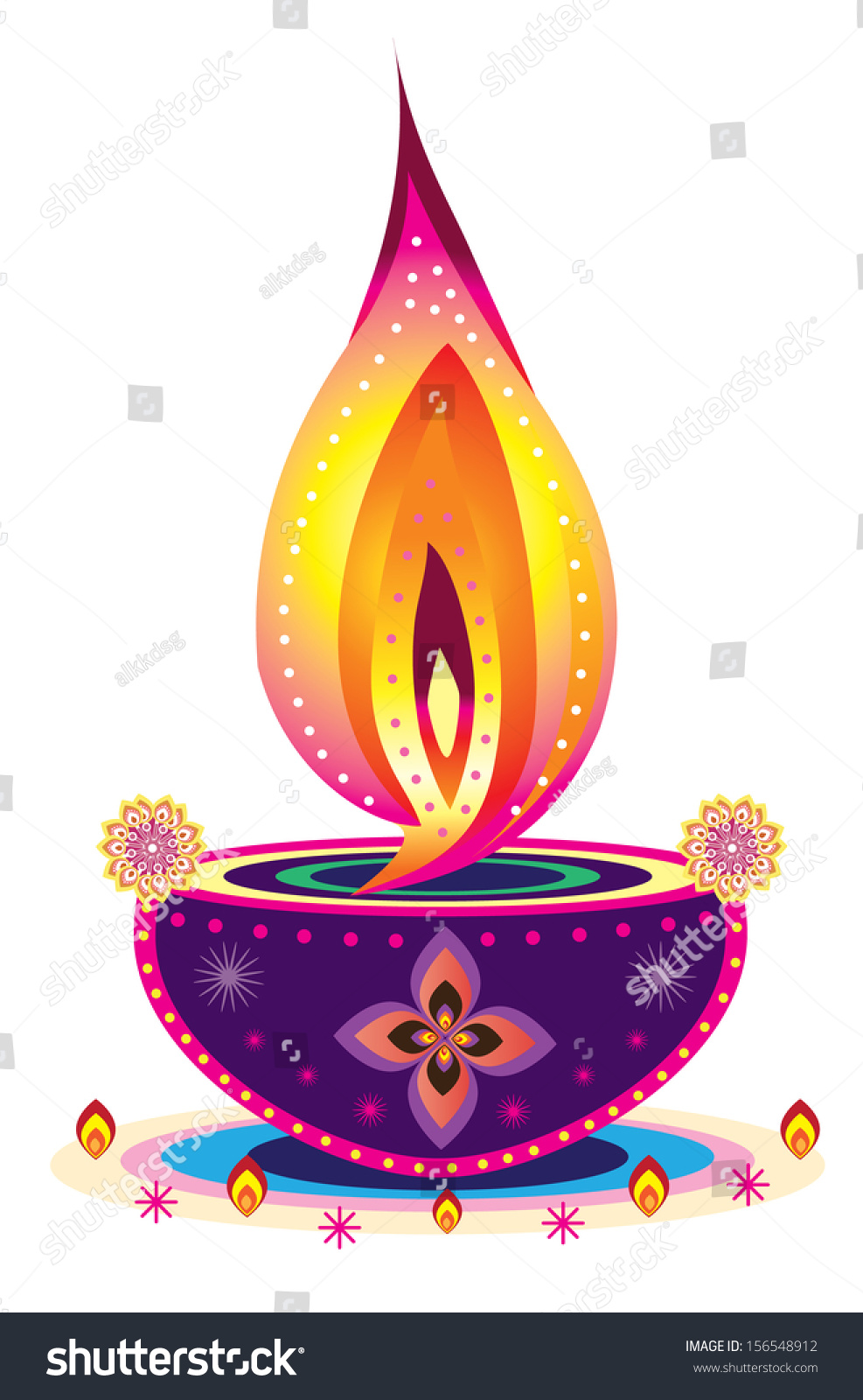 Diwali Candle Light Indian New Year Stock Illustration 156548912