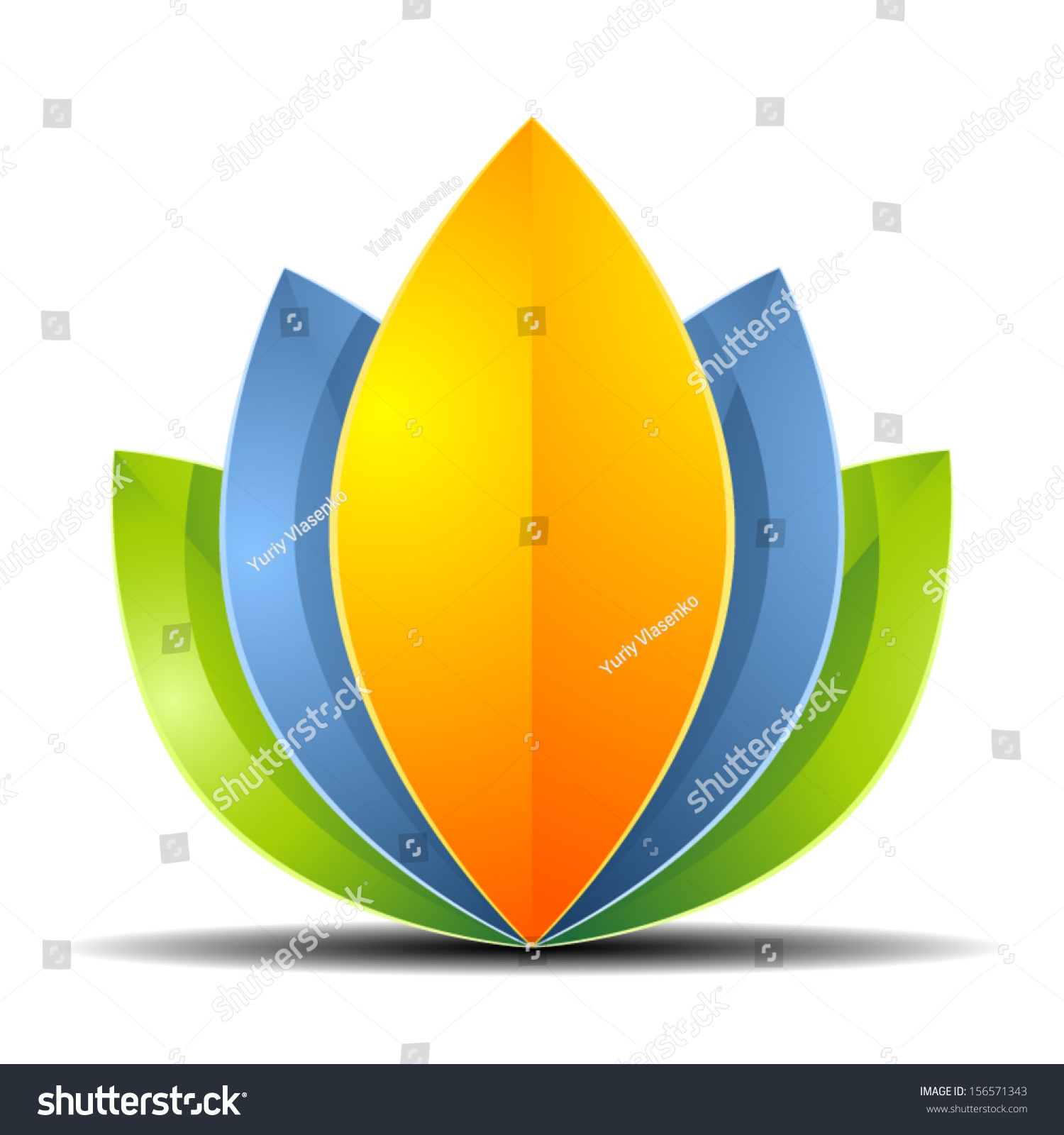 Eco Flower Stock Vector Illustration Shutterstock