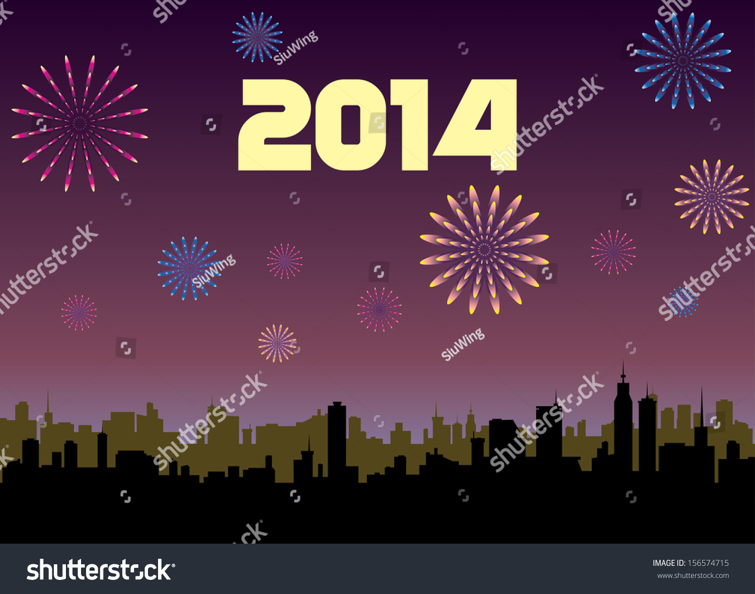 Happy new year 2014 greeting card stock vector 156574715 shutterstock happy new year 2014 greeting card m4hsunfo