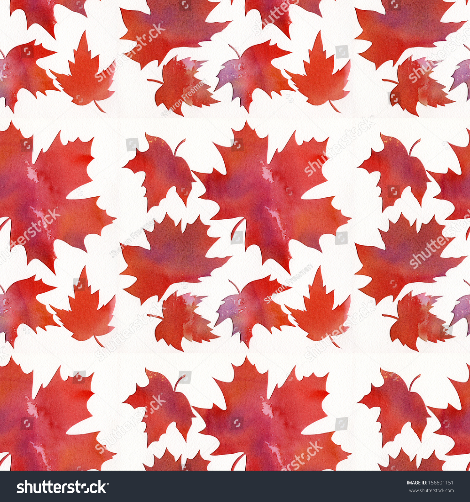 Orange maple leaf pattern abstract watercolor stock illustration orange maple leaf pattern abstract watercolor painting with stencil design of maple leaves pronofoot35fo Image collections