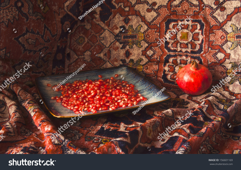 Royalty Free Still Life Of Armenian Pomegranate And 156601169