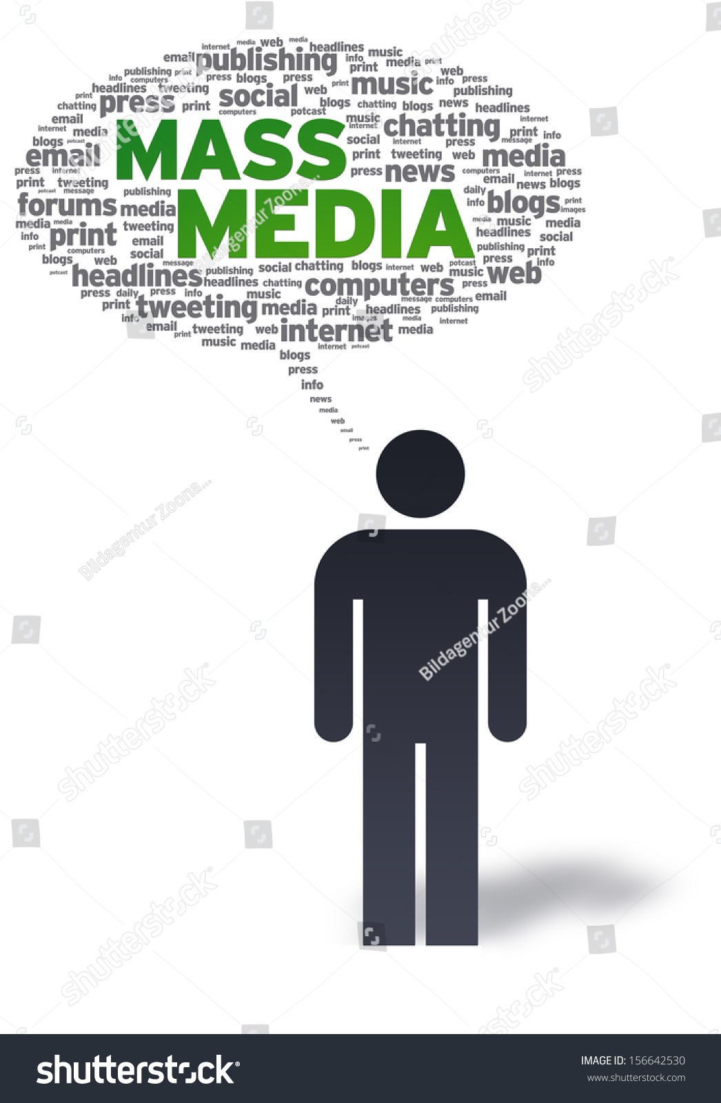 Mass Media Stock Illustration 156642530 - Shutterstock