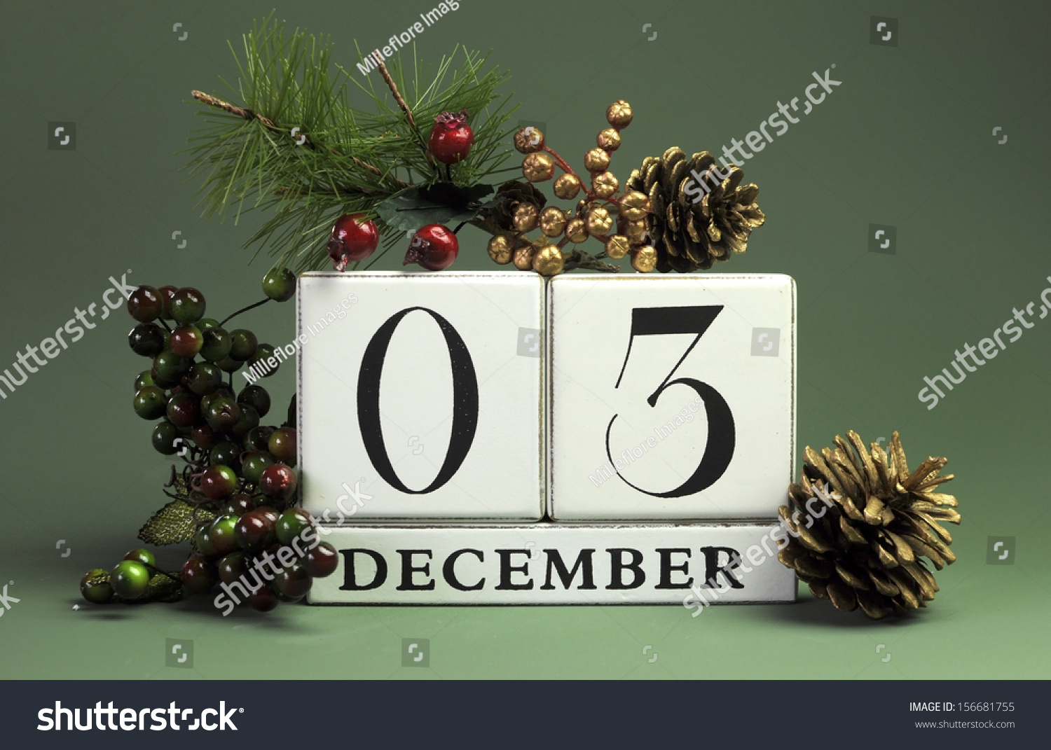 december 3 save date calendar winter stock photo edit now
