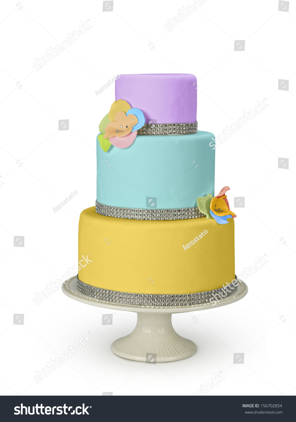 Three floor design cake for wedding and others banquets | EZ Canvas