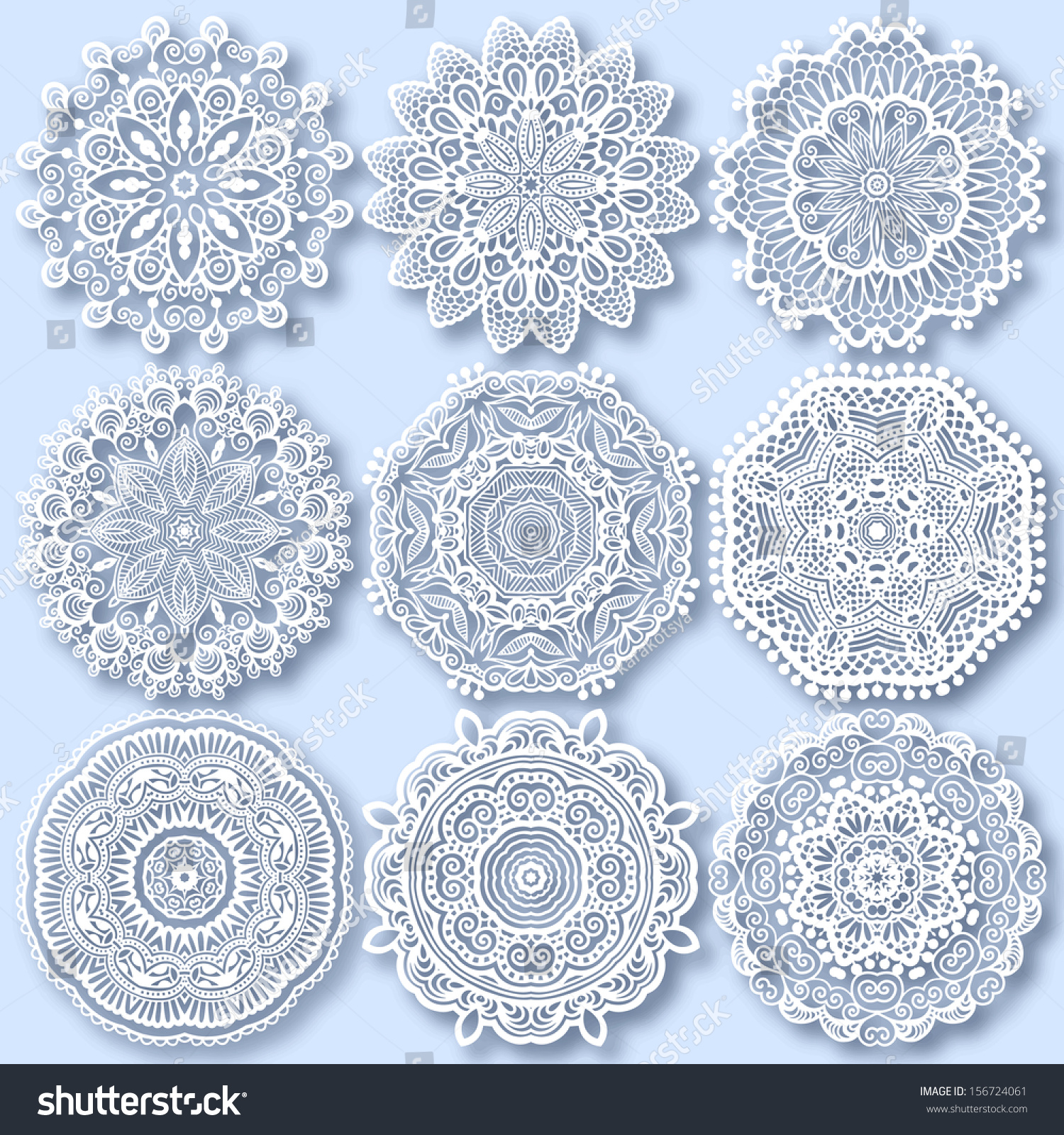 Stock Vector Circle Lace