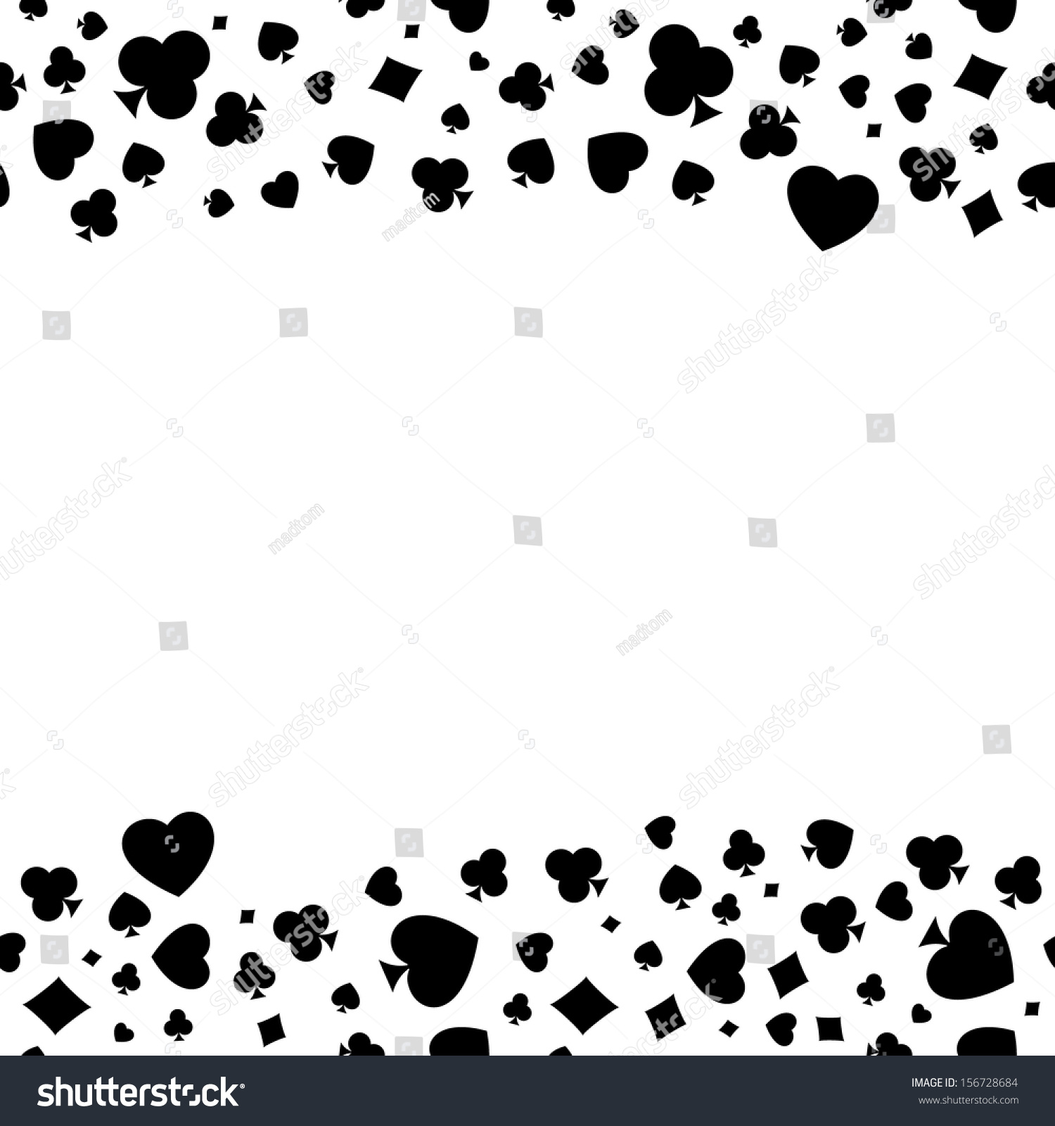 Seamless pattern made out casino symbols stock vector 156728684 the seamless pattern made out of casino symbols heart diamond spade and clubs biocorpaavc Gallery
