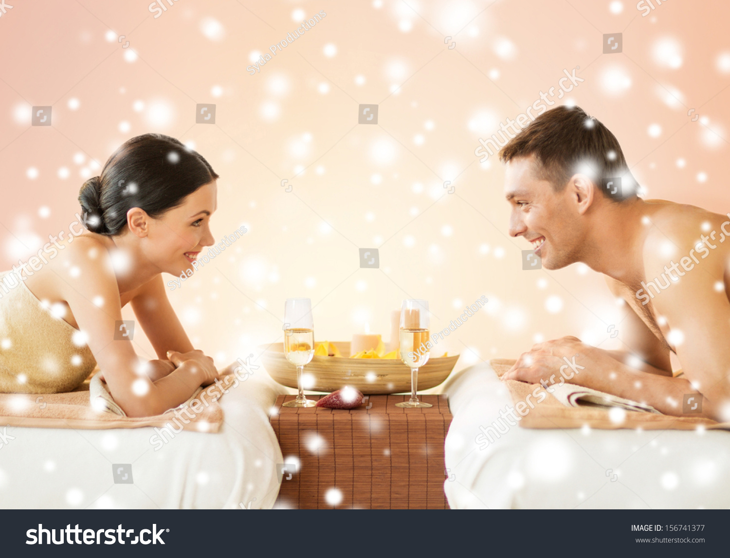 Health beauty honeymoon vacation concept couple stock for Health spa vacations for couples