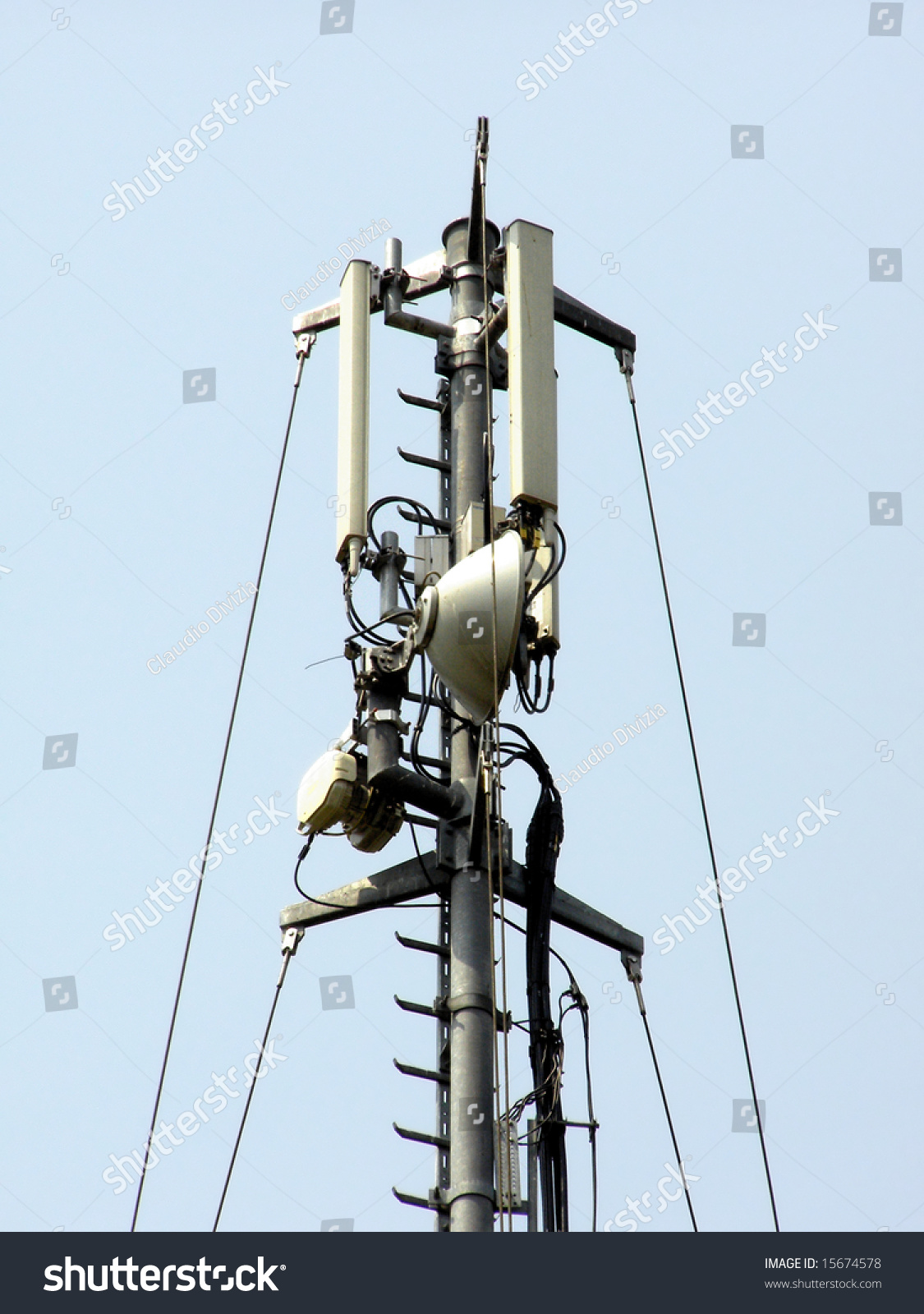 Tower For Telecommunication Aerial Antenna Ez Canvas Power Aerialwiringpicturejpg Id 15674578