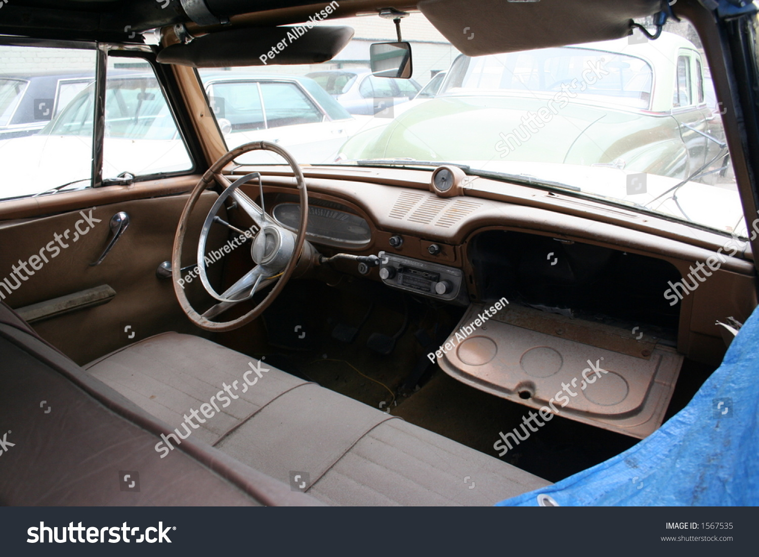 Old Car Interior Stock Photo Edit Now 1567535 Shutterstock