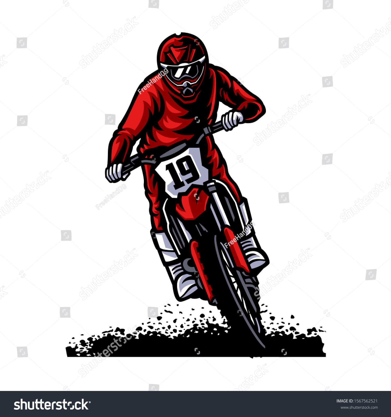 Motocross Vector Logo Illustration Motocross Freestyle Stock Vector Royalty Free 1567562521