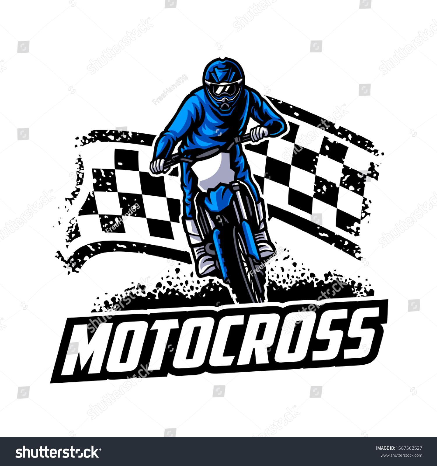 Motocross Vector Logo Illustration Motocross Freestyle Stock Vector Royalty Free 1567562527