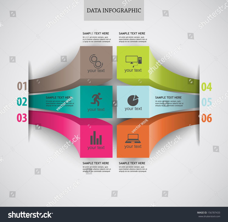 Modern Infographics Data Vector Pattern Can Stock Vector 156787433 ...