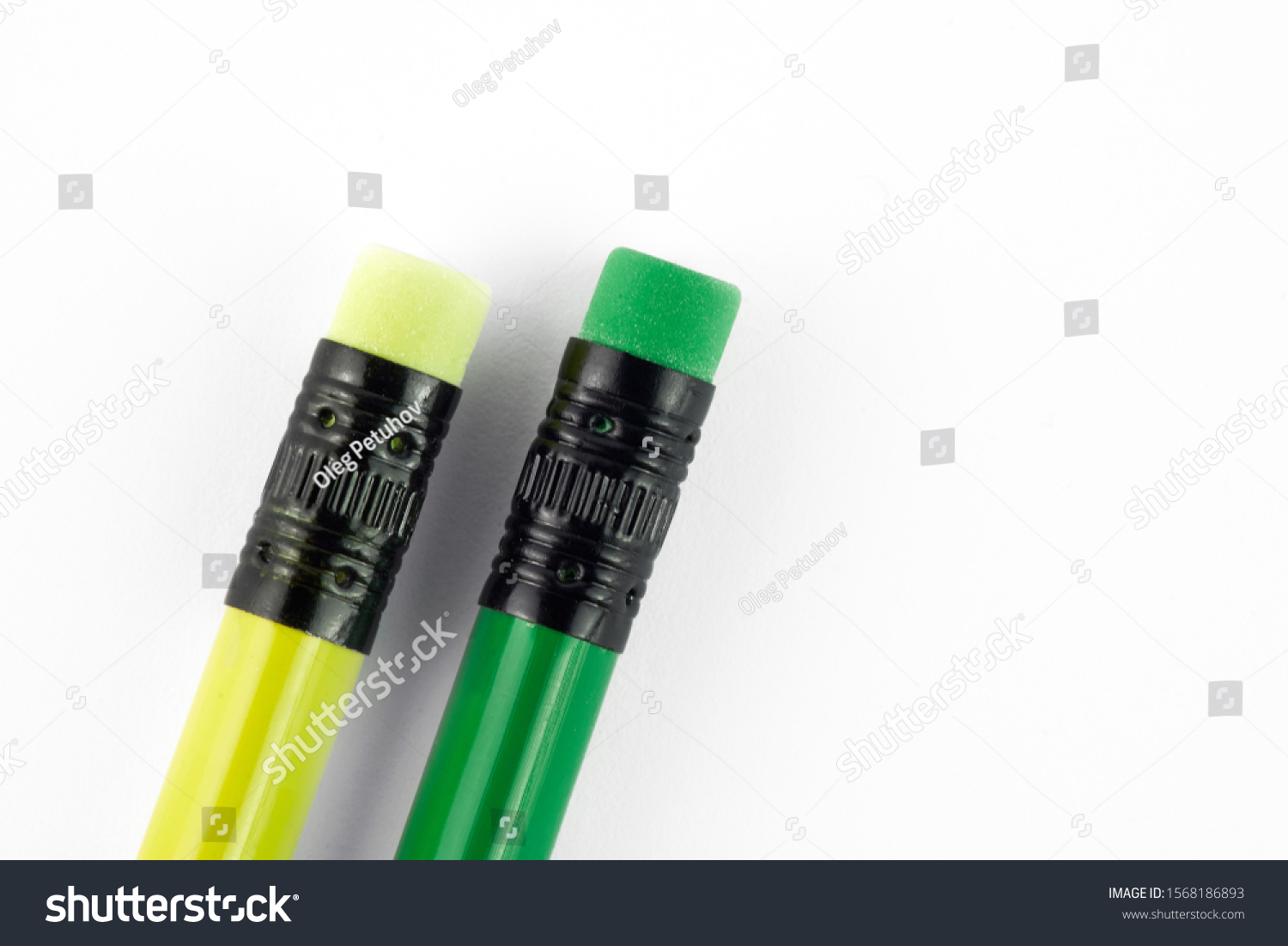 Colour pencils isolated on white background close up #1568186893