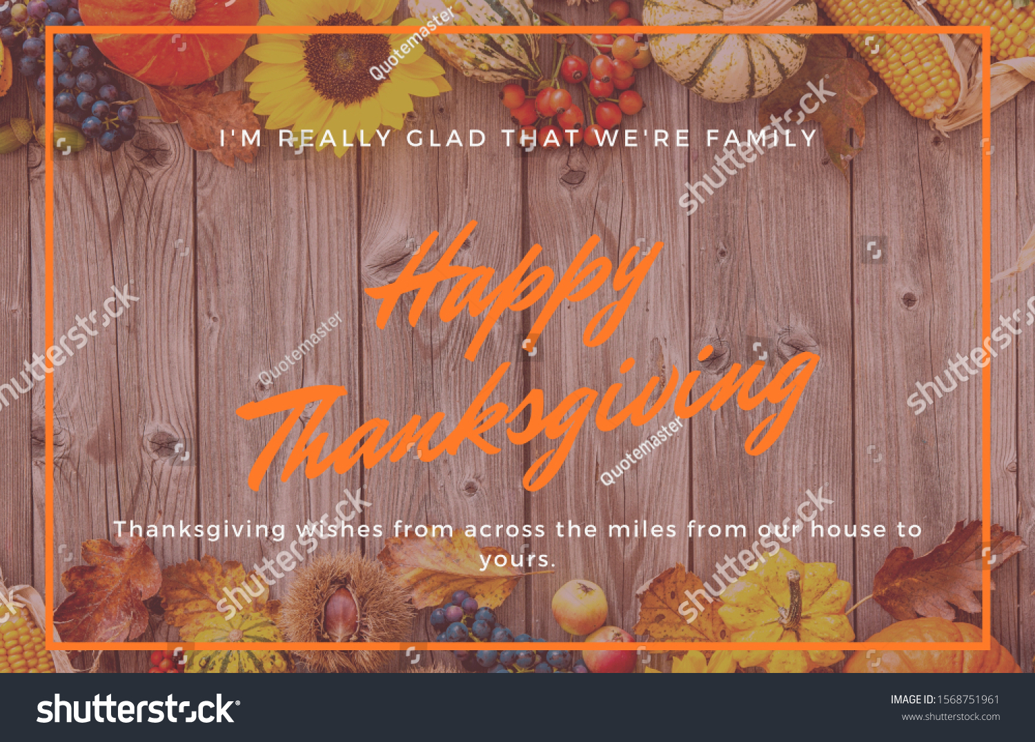 Happy Thanksgiving Day Written On Wooden Stock Photo Edit Now 1568751961
