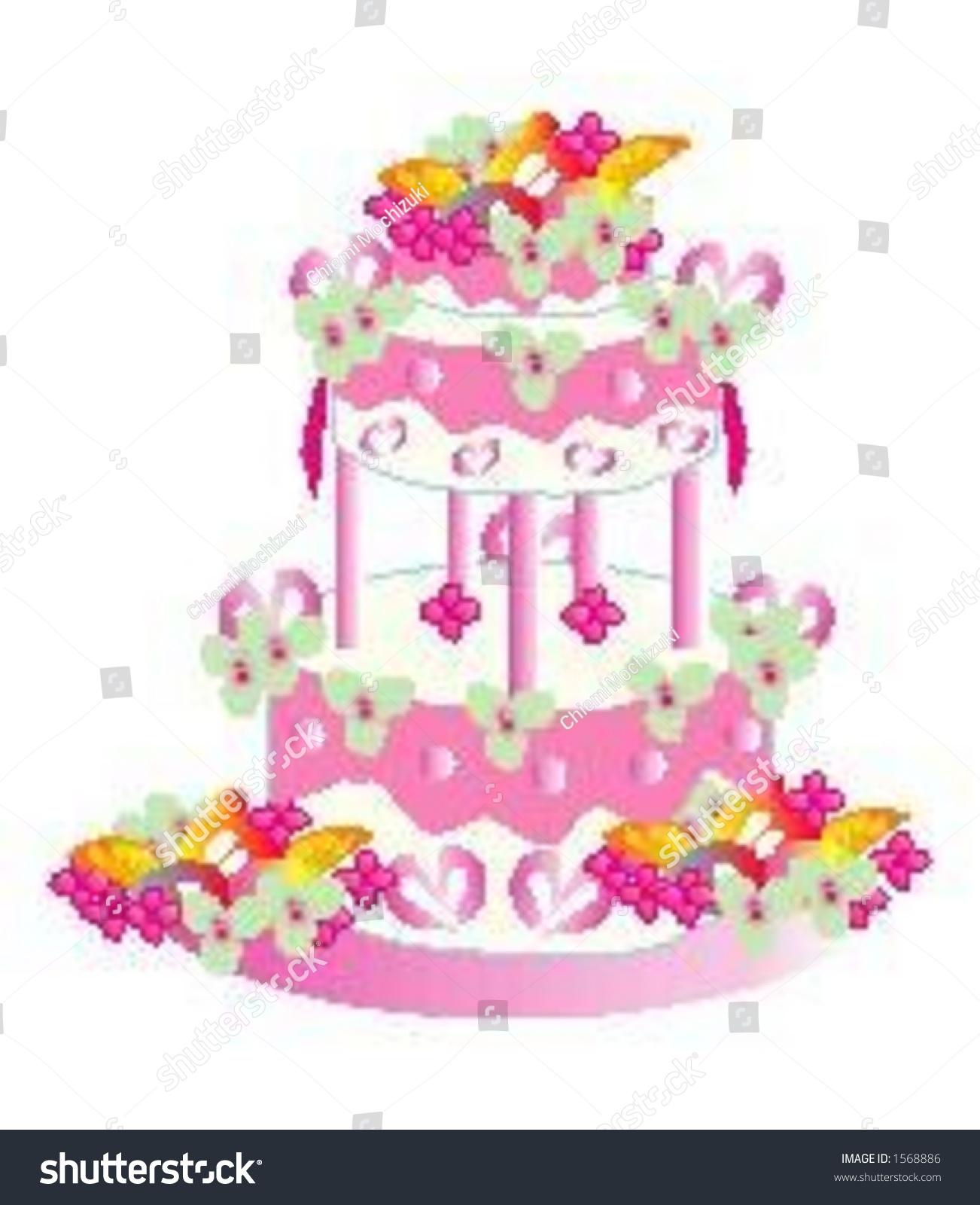 Vector Graphic Threetier Wedding Cake Stock Vector 1568886 ...