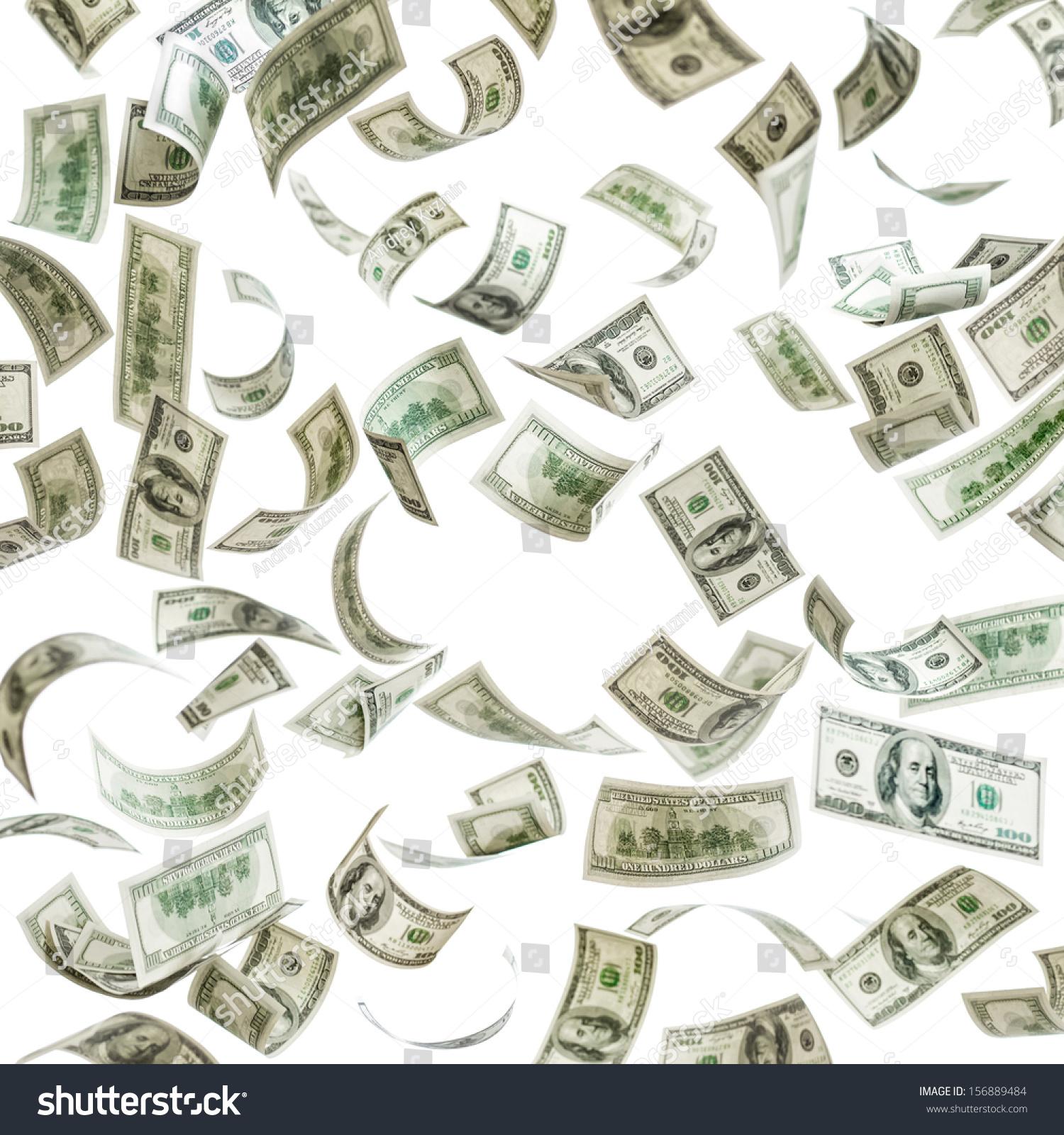 dollar bills falling on - photo #11