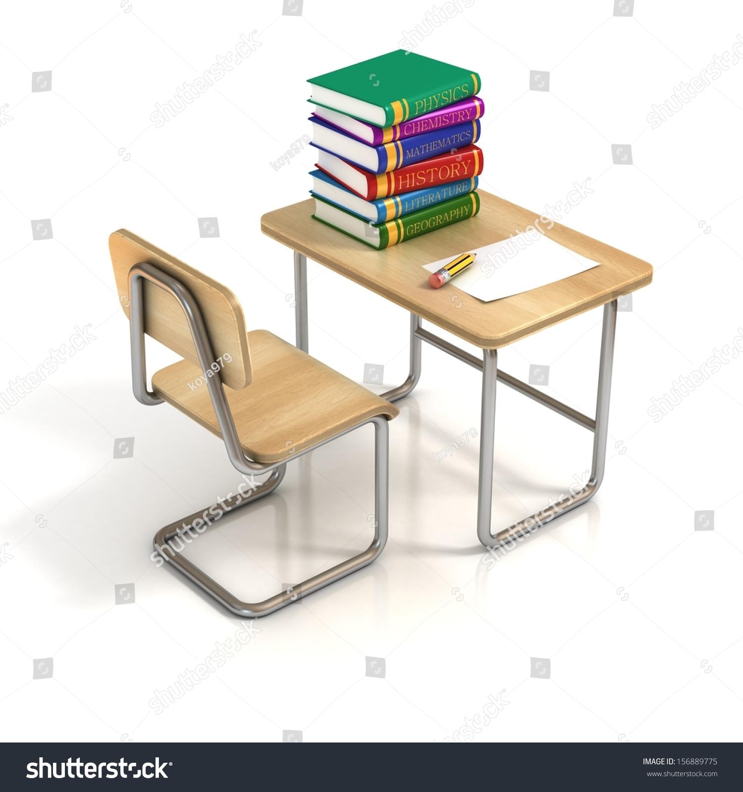 School Desk Chair Stock Illustration Shutterstock