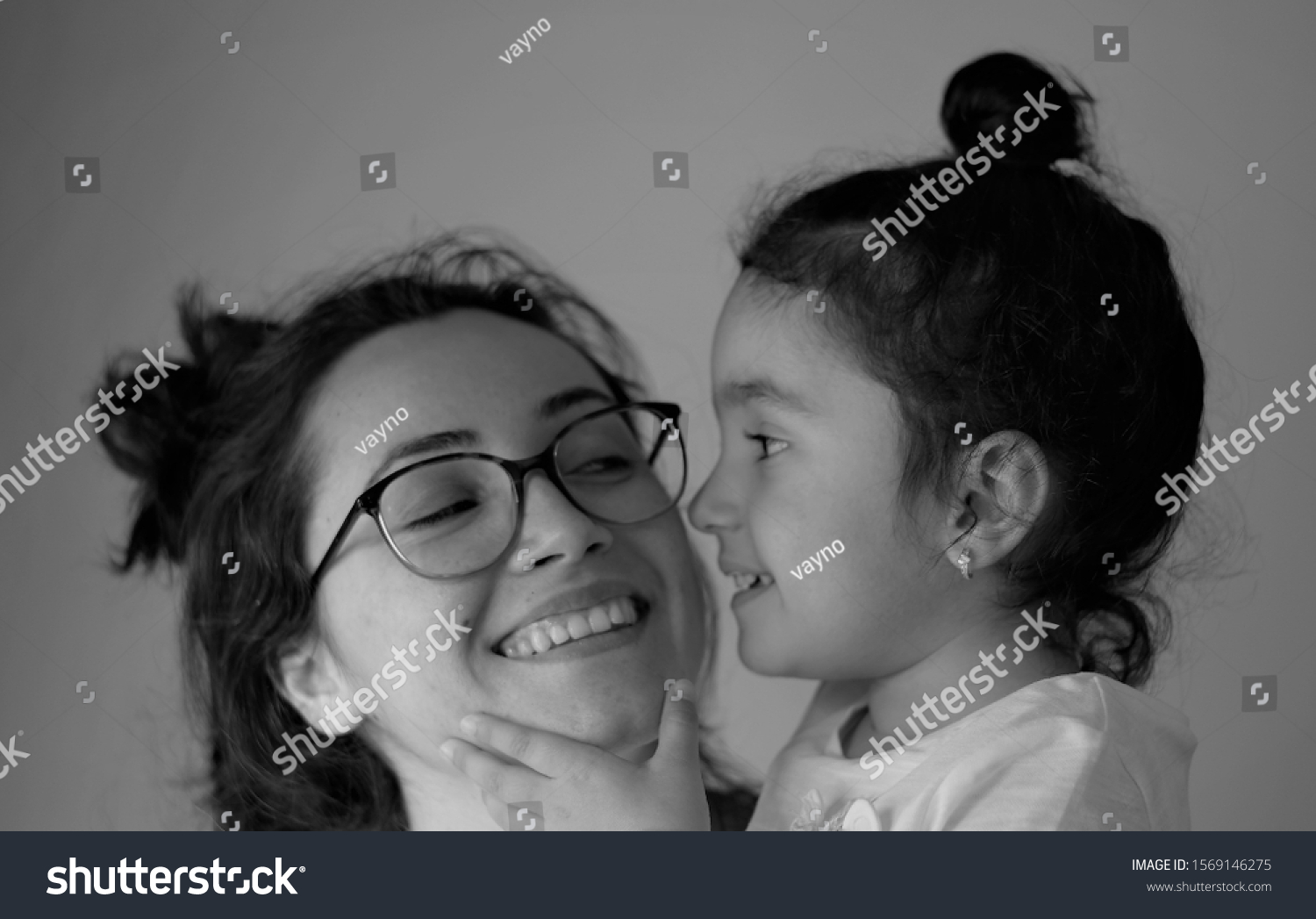 mother and child looking at each other