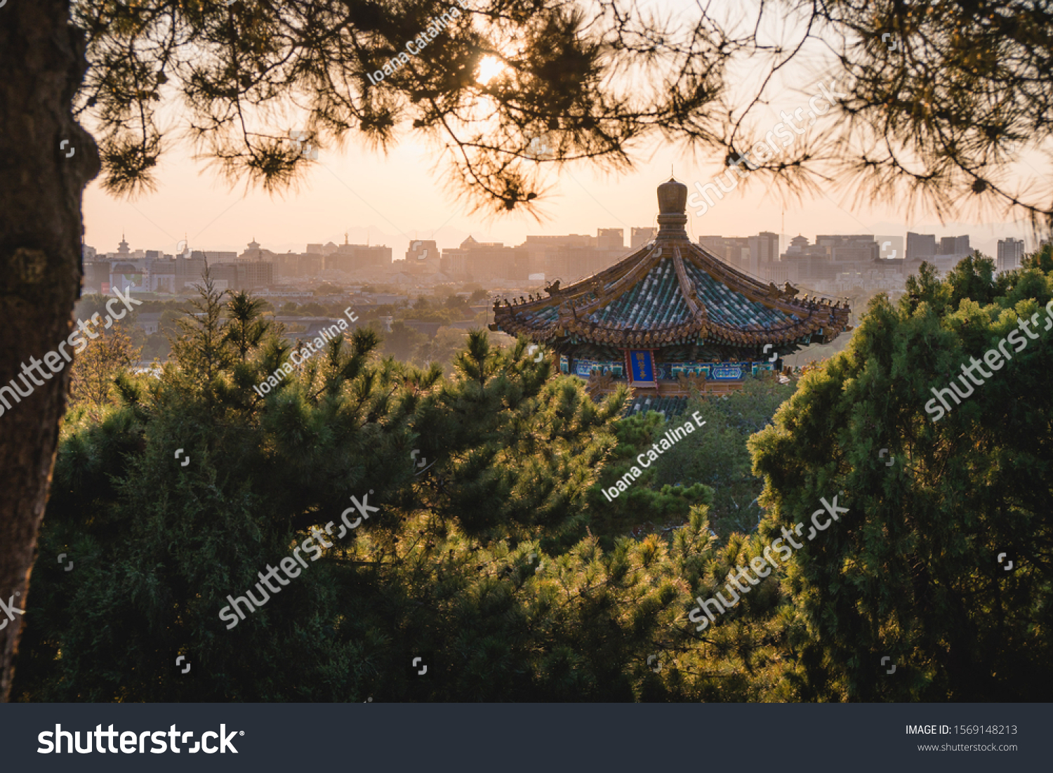 Chinese Traditional Architecture Chinese Roof Top Buildings Landmarks Stock Image 1569148213