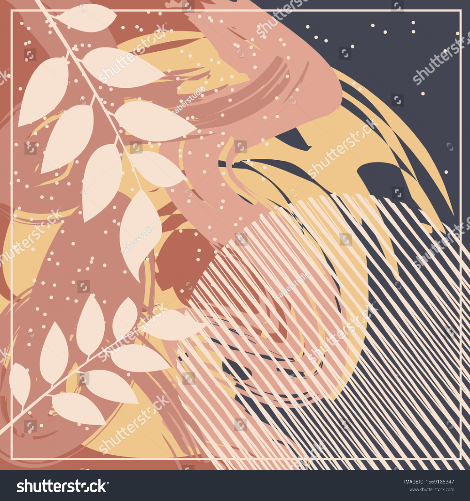Abstract Scarf Pattern Design Hijab Fashion Stock Vector (Royalty