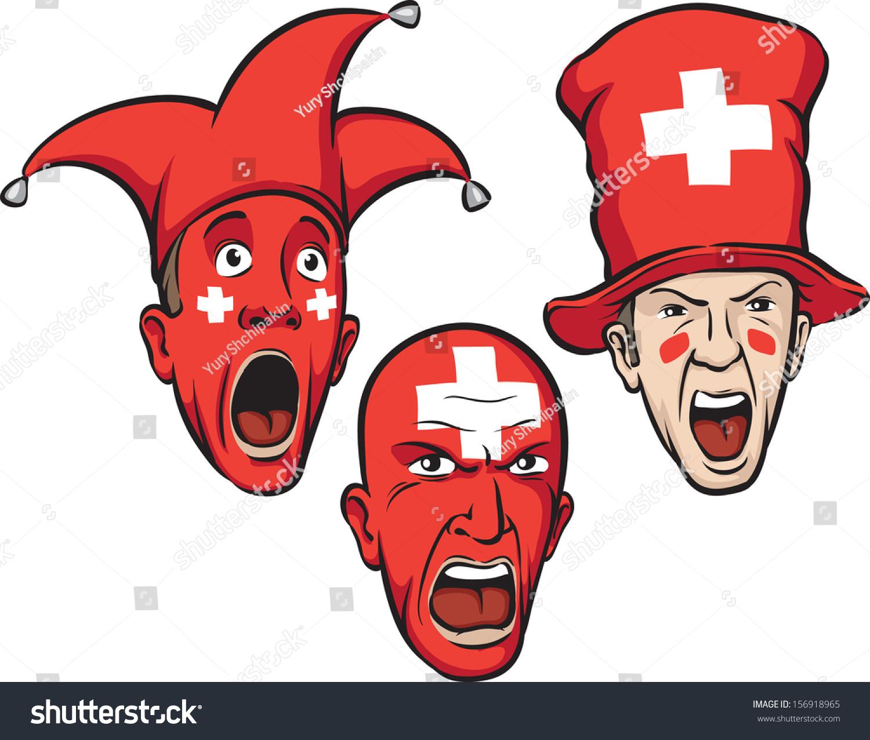 Vector Illustration Football Fans Switzerland Easyedit ...
