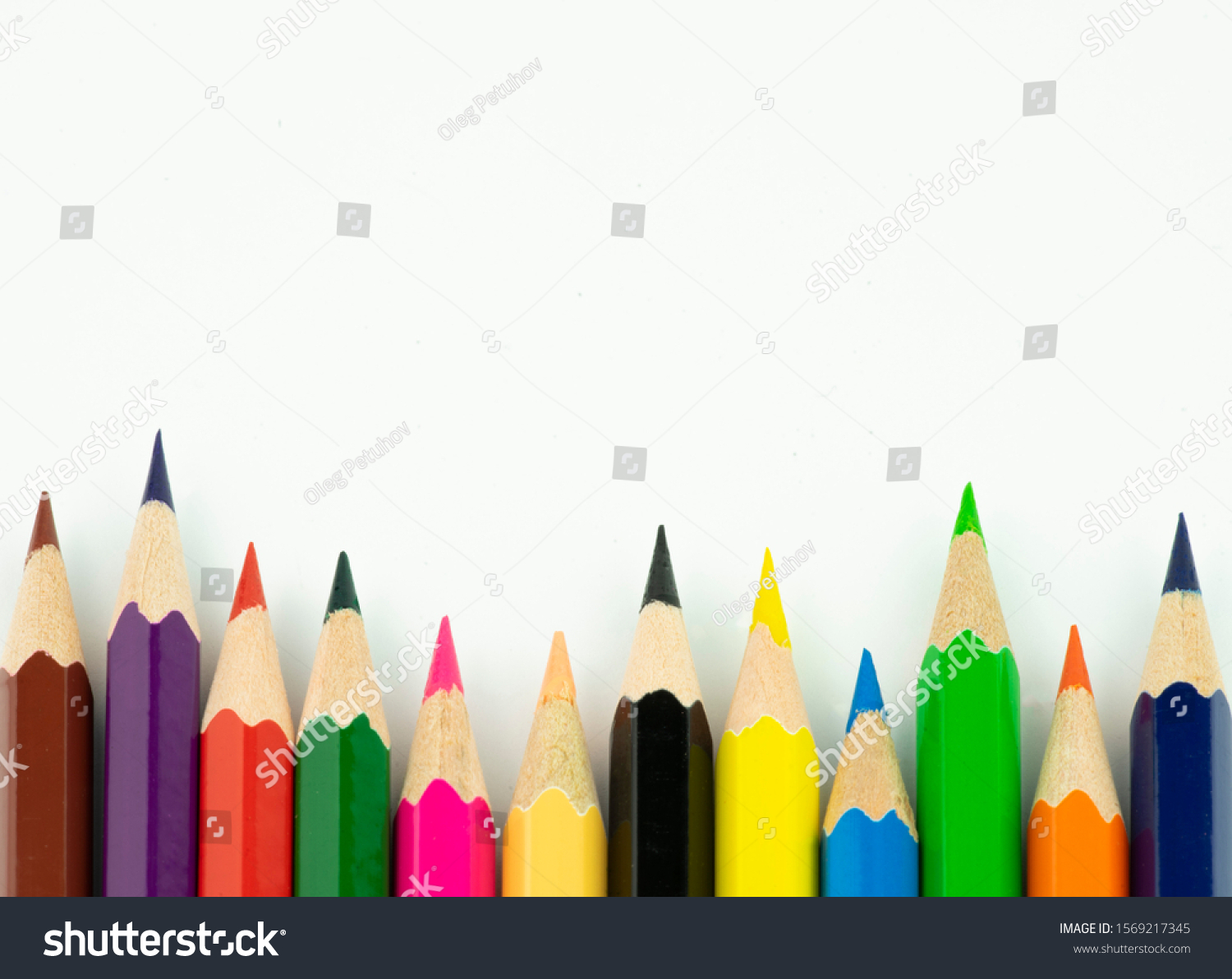 An image of set of color pencils. #1569217345