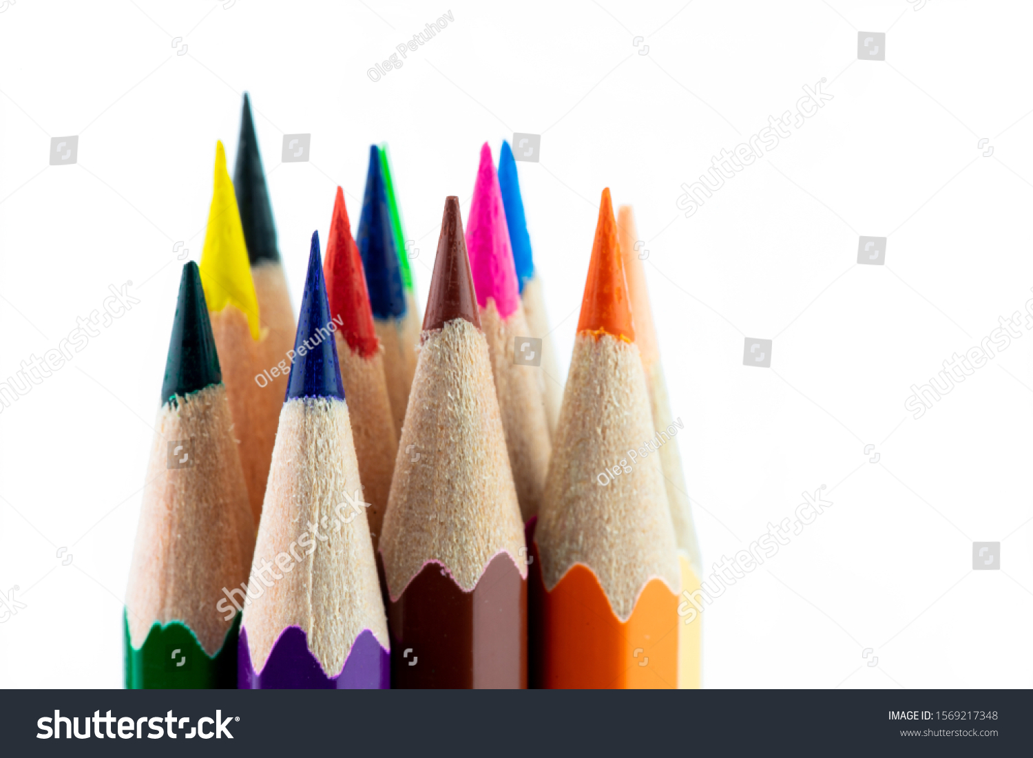 An image of set of color pencils. #1569217348