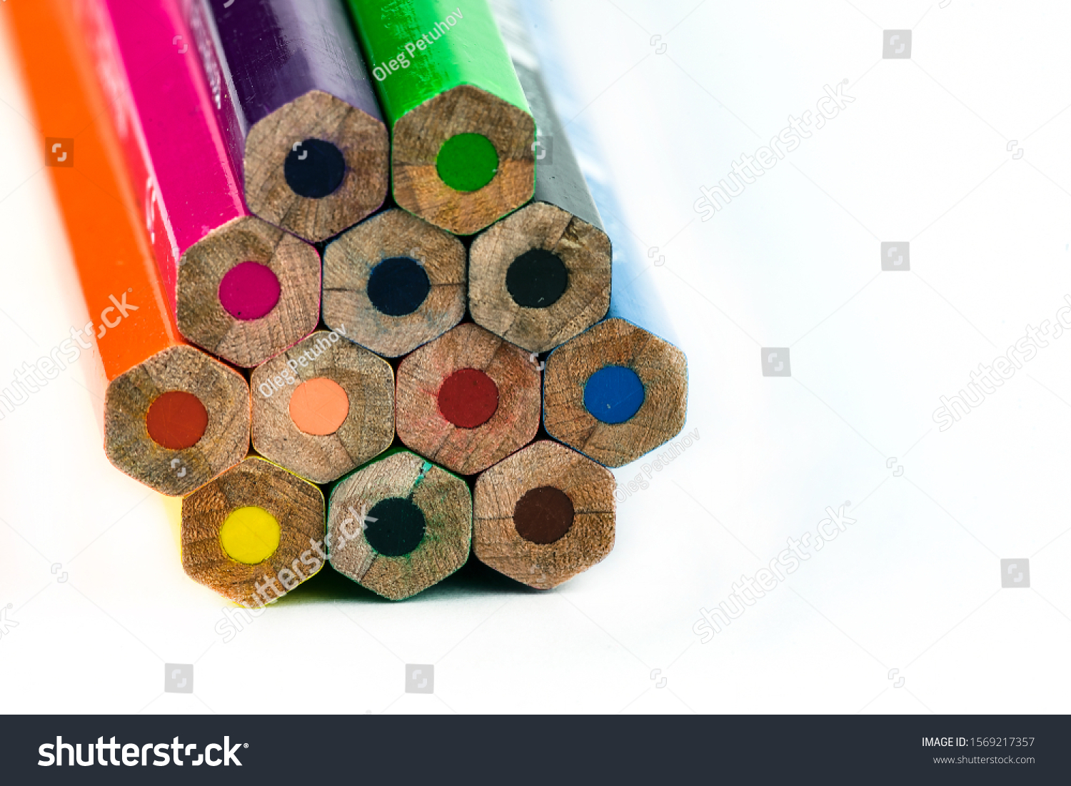 An image of set of color pencils. #1569217357