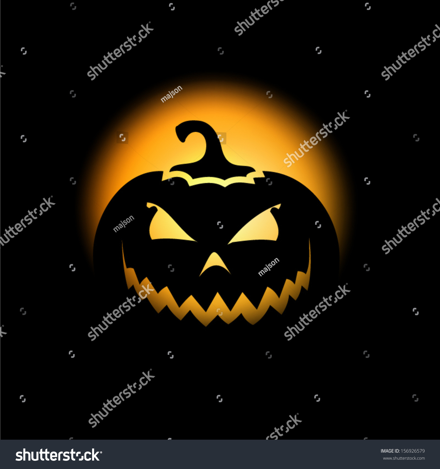 halloween scary pumpkin background stock vector (royalty free