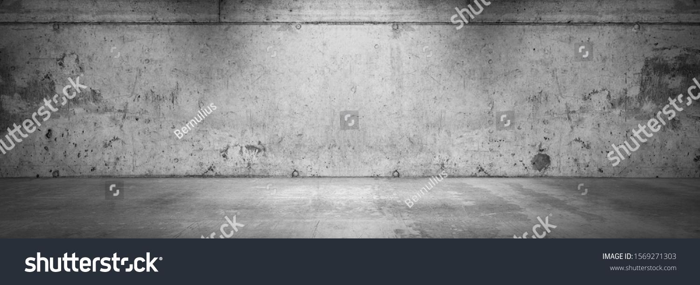Dark Concrete Wall Background Grunge Product Placement Garage Scene #1569271303