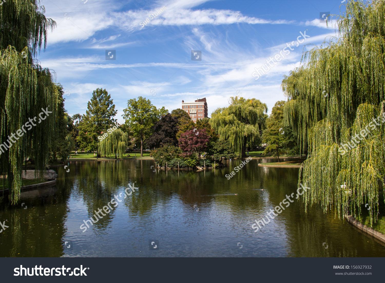 Pond Boston Public Garden Near Boston Stock Photo (Edit Now ...