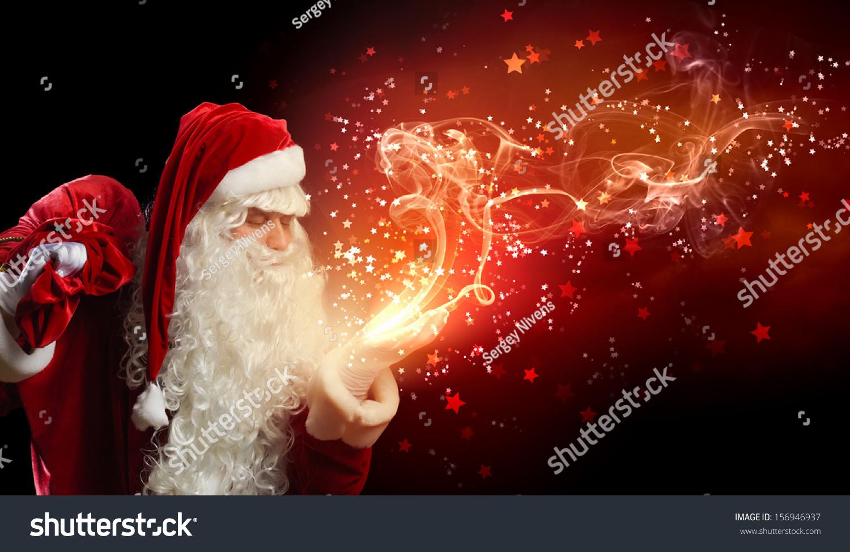 image santa claus red costume against stock photo 156946937