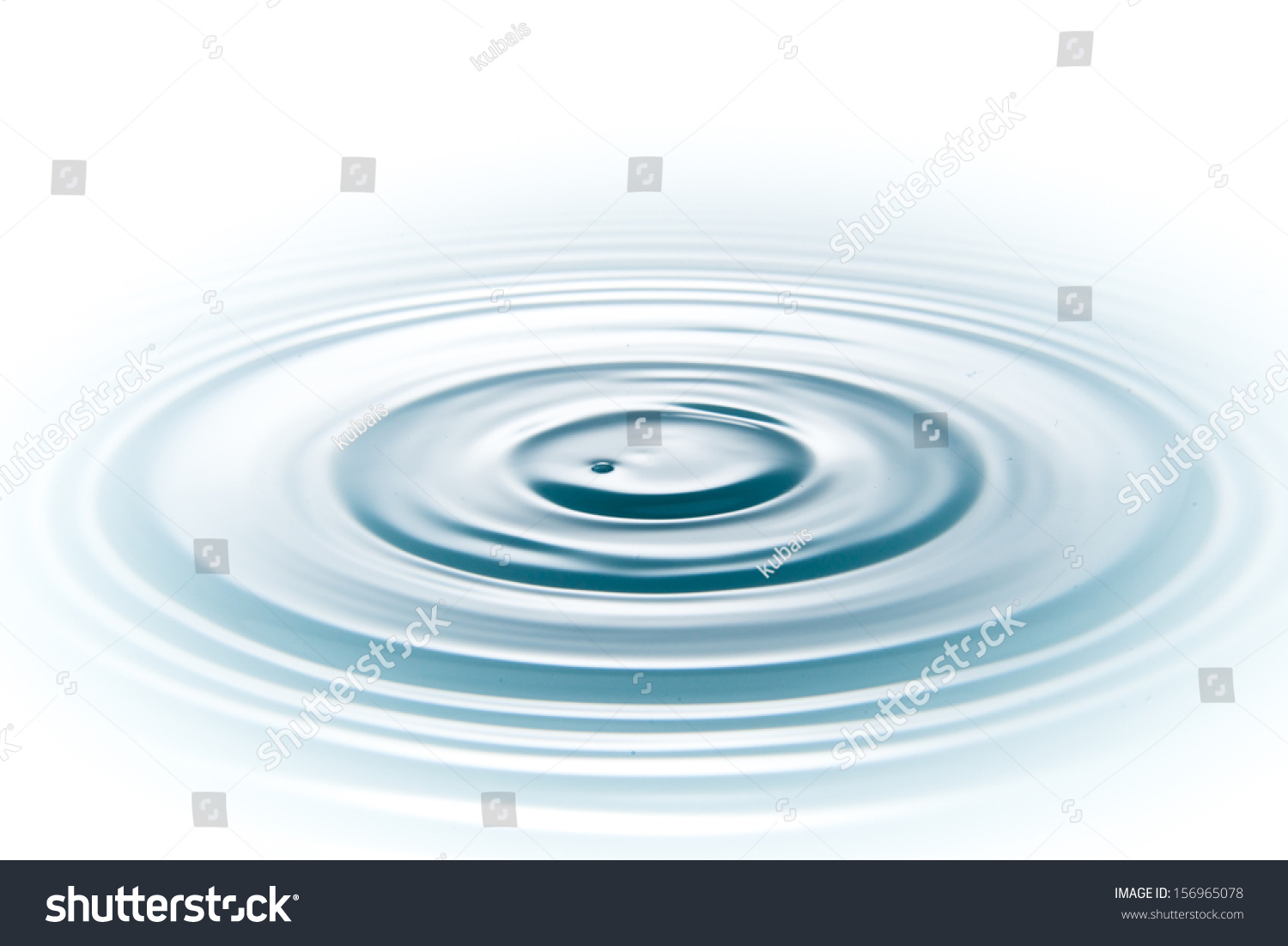 Drop Of Water On White Background Stock Photo 156965078 ...