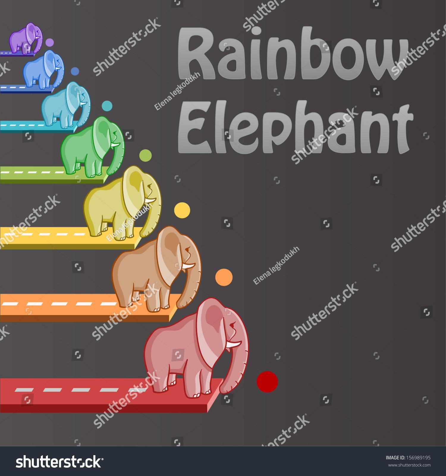 Rainbow elephant symbol good luck set stock vector 156989195 rainbow elephant symbol of good luck set of 7 animals biocorpaavc
