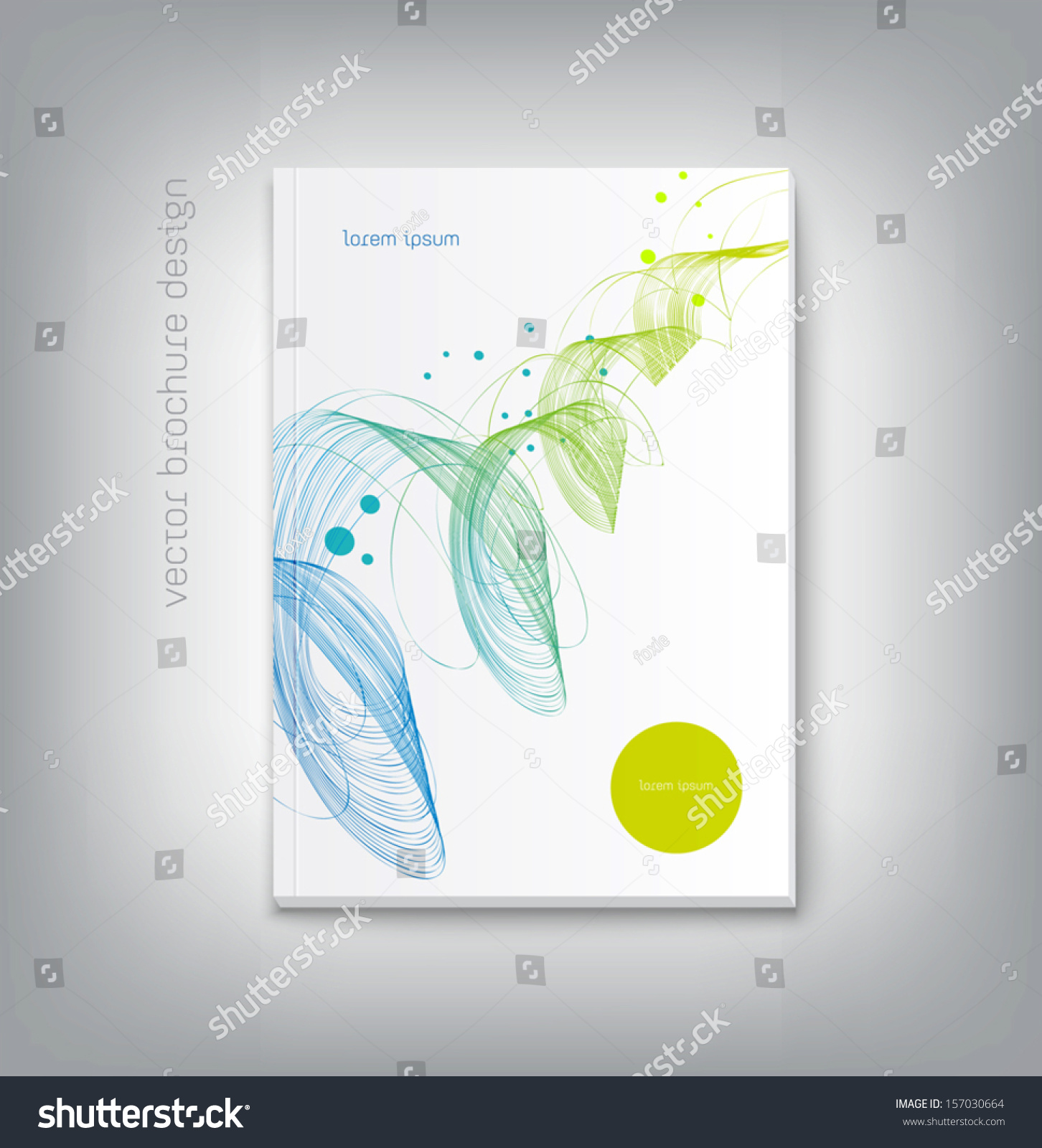 vector brochure cover design template abstract stock vector vector brochure cover design template abstract dynamic wave background
